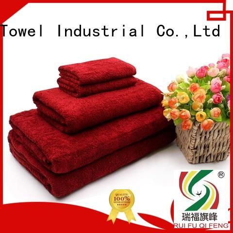 Ruifu Qifeng premium cotton towel set factory price for restaurant