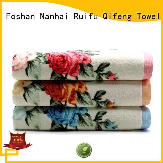 logo towel set supplier oem for restaurant Ruifu Qifeng