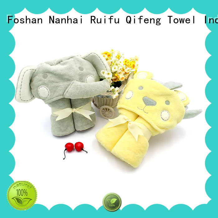 Ruifu Qifeng safe baby bath towels promotion for hotel