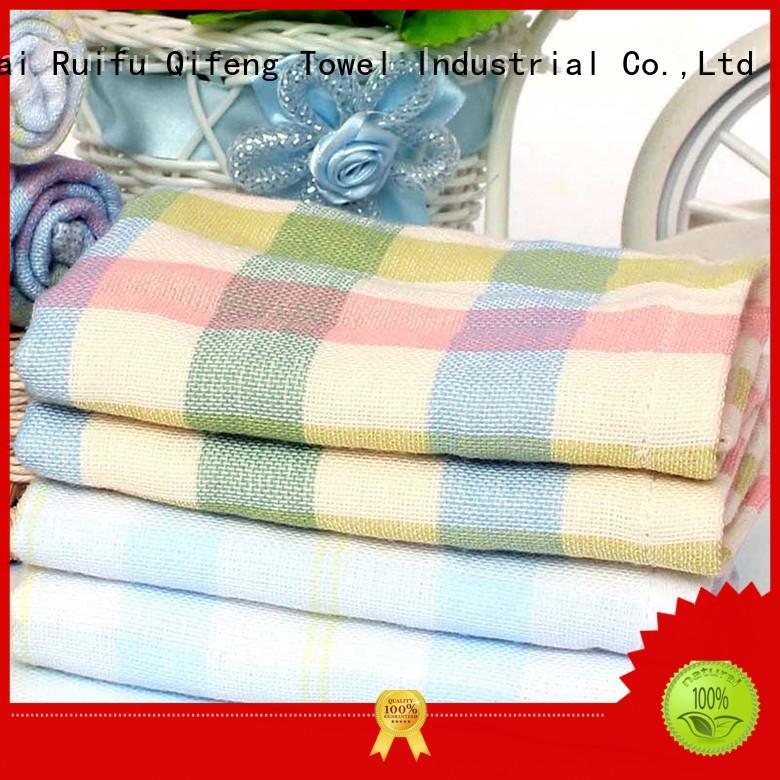 Ruifu Qifeng soft bamboo hooded baby bath towel qf020d894 for kindergarden