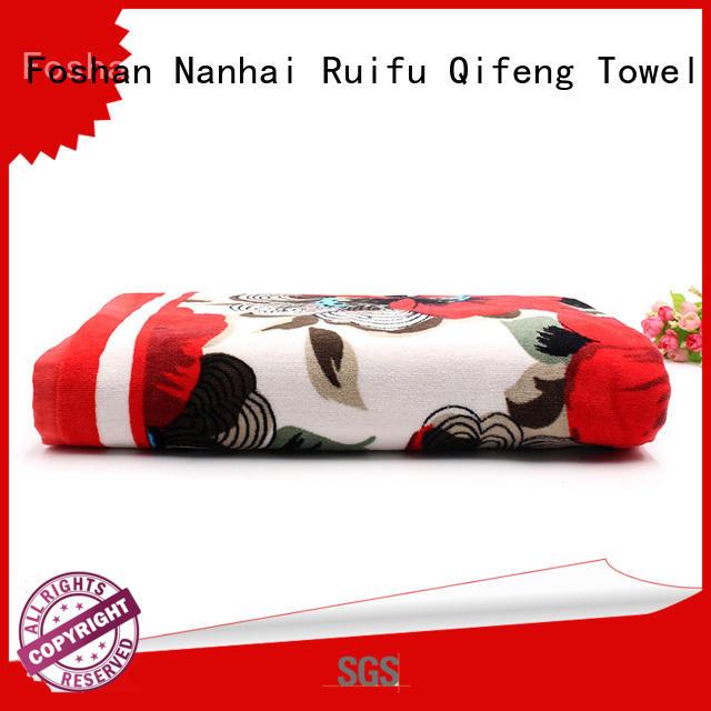 Ruifu Qifeng dobby beach towel series directly price for pool