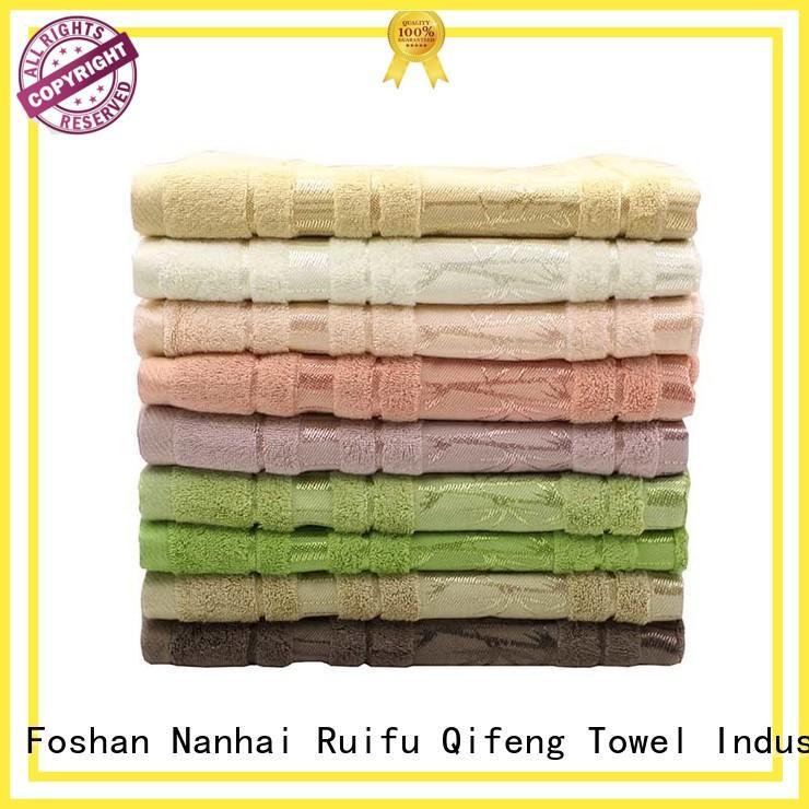 Ruifu Qifeng dyed striped bath towels online for club