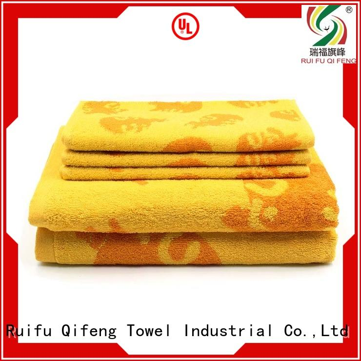Ruifu Qifeng soft customized towel set on sale for hotel