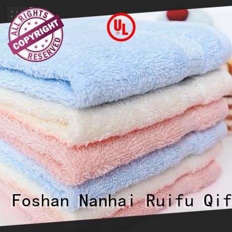 Ruifu Qifeng natural bamboo baby hooded towel supplier for kindergarden