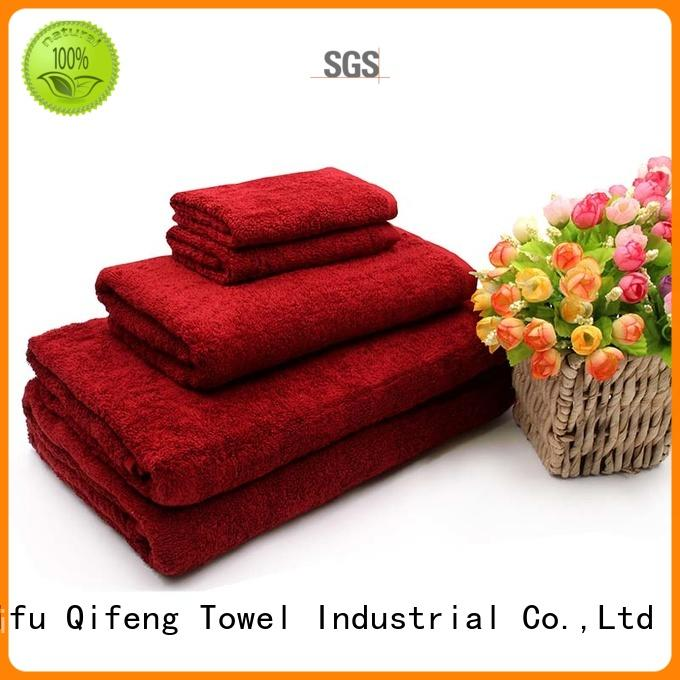 Ruifu Qifeng thickness bamboo towel set on sale for hotel