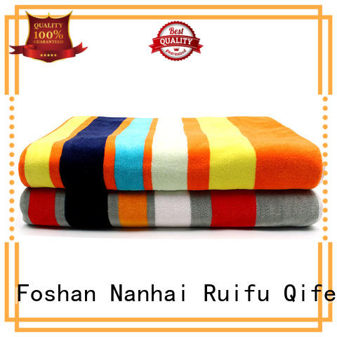 Ruifu Qifeng dobby large bath towels on sale for hotel