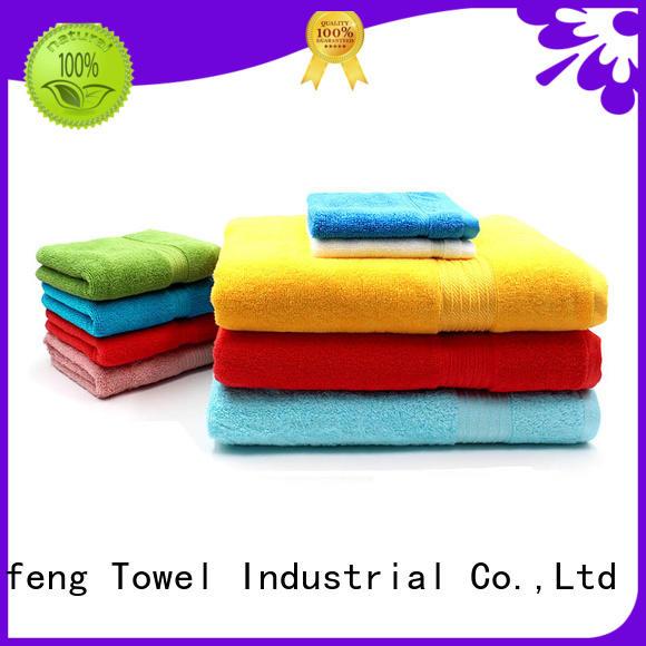 Ruifu Qifeng good quality cotton towel set factory price for beach