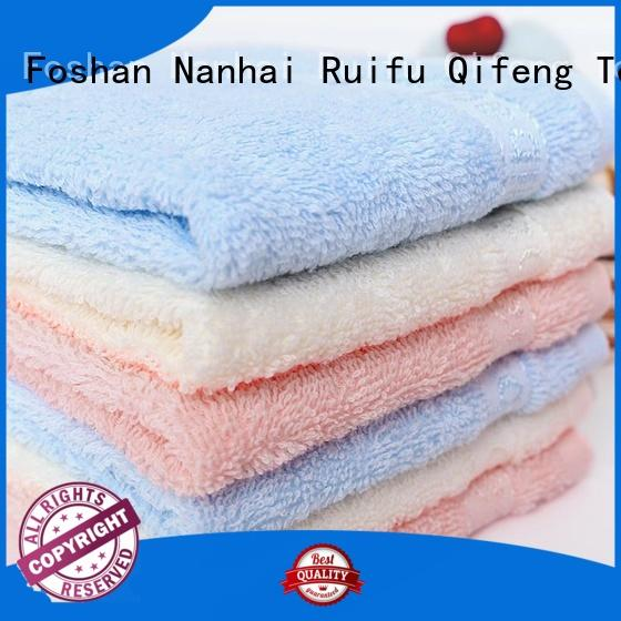 Ruifu Qifeng natural infant hooded towel promotion for hospital