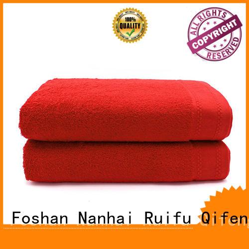Ruifu Qifeng dobby large beach towels wholesale for beach