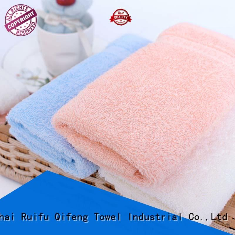 Ruifu Qifeng velour bamboo baby hooded towel promotion for hospital