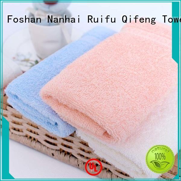 Ruifu Qifeng customized bamboo baby towel manufacturer for hotel