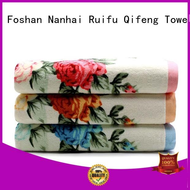 Ruifu Qifeng eco-friendly bathroom towel sets on sale for beach