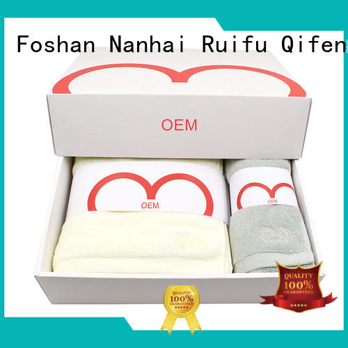 Ruifu Qifeng luxury fast drying towels sets for hospital