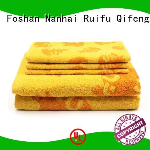 Ruifu Qifeng monogrammed cotton towel set online for restaurant