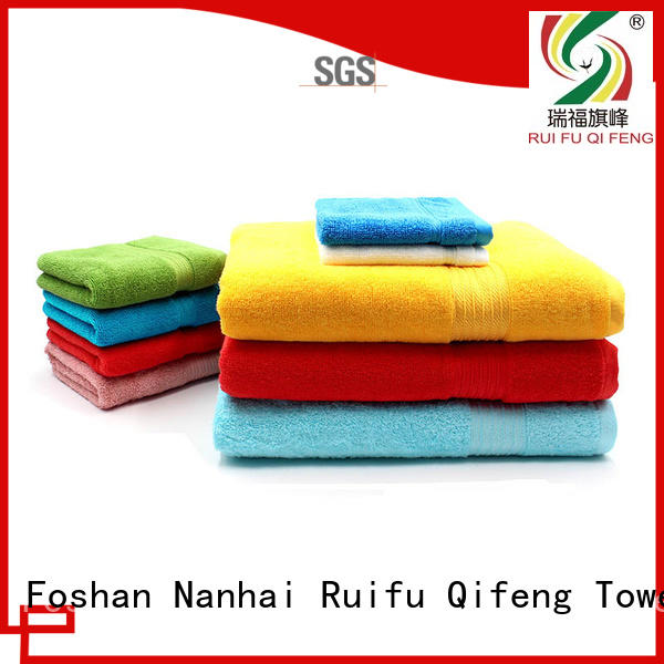 Ruifu Qifeng soft customized towel set oem for home