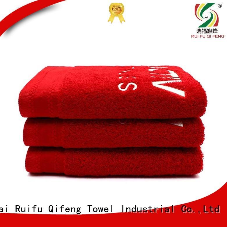 Ruifu Qifeng jacquard large bath towels supplier for hotel