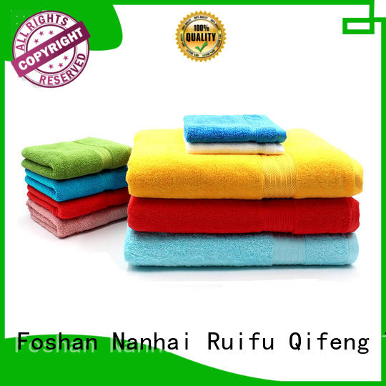 Ruifu Qifeng eco-friendly bamboo towel set online for hotel