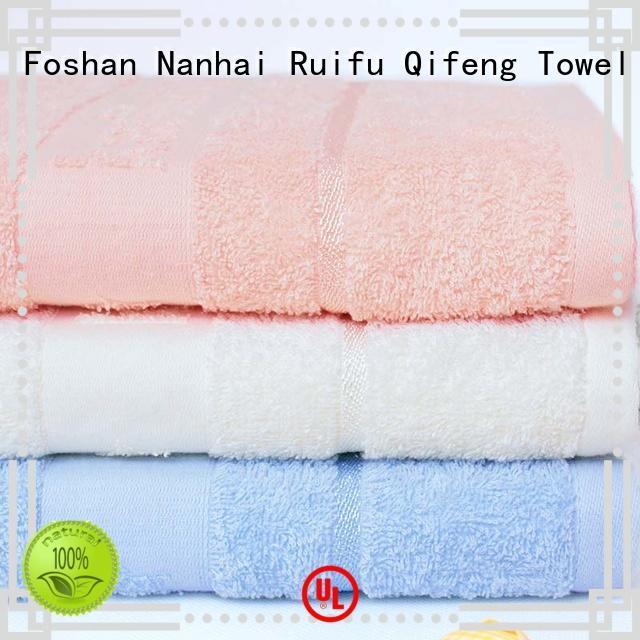 Ruifu Qifeng soft baby hooded towel design for kindergarden