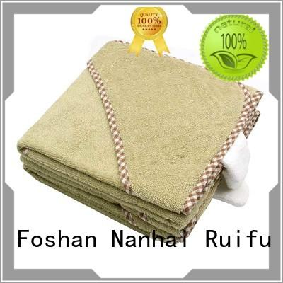 Ruifu Qifeng kids organic bamboo baby towels promotion for kindergarden