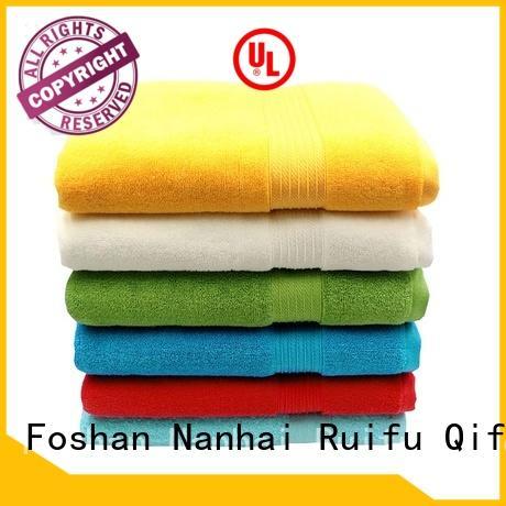 plain best quality bath towels jacquard for hotel Ruifu Qifeng