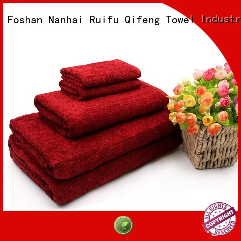 Ruifu Qifeng good quality bath towel sets supplier for hospital
