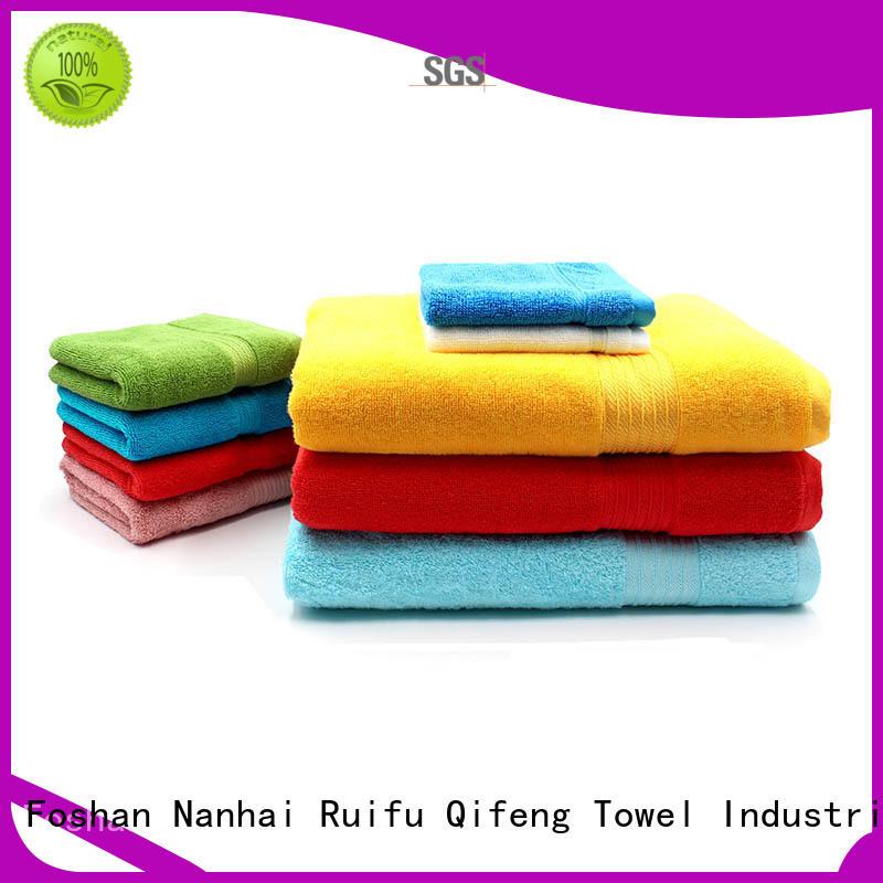 luxury bamboo towel set online for club Ruifu Qifeng