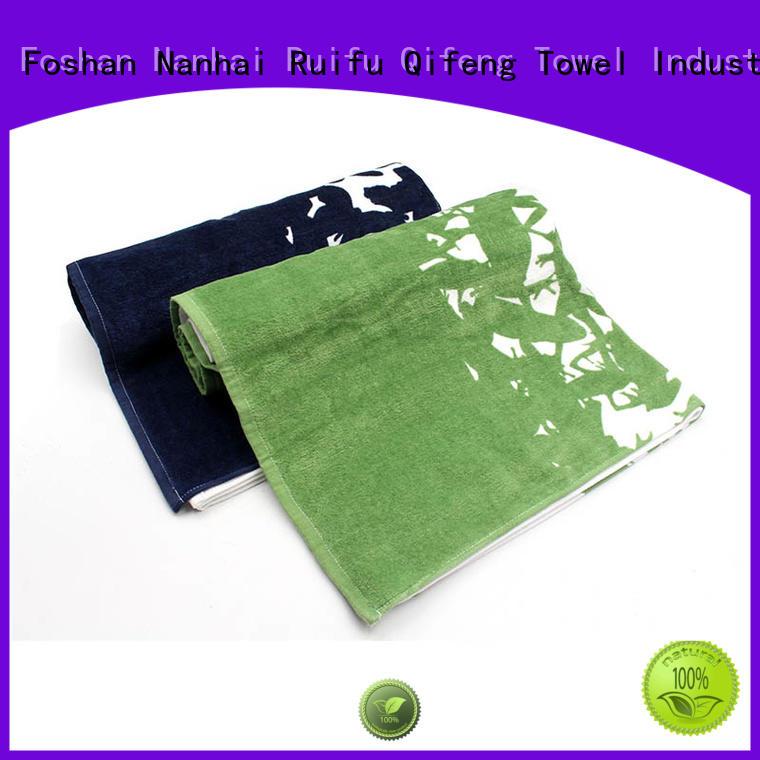 Ruifu Qifeng soft striped bath towels jacquard for hotel