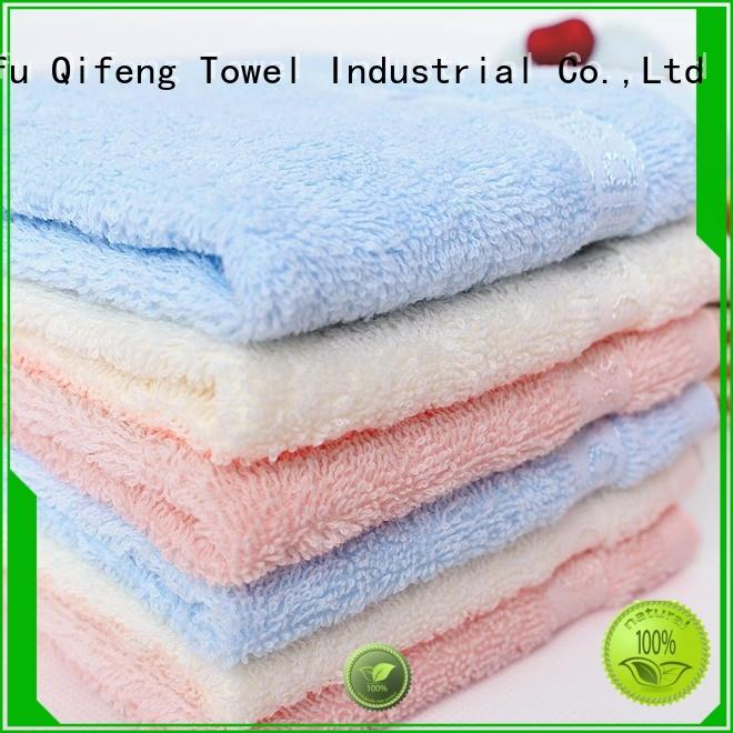 Ruifu Qifeng soft bamboo baby hooded towel online for hotel