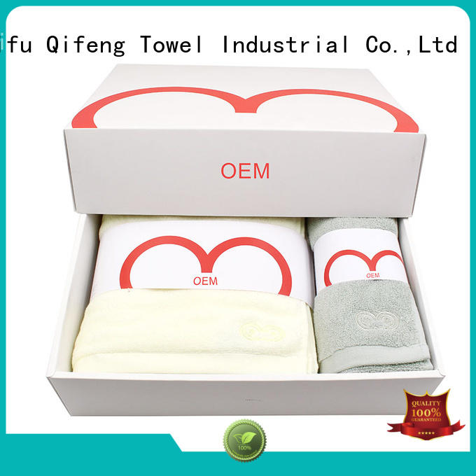 Ruifu Qifeng customized fast drying towels sets for hotel