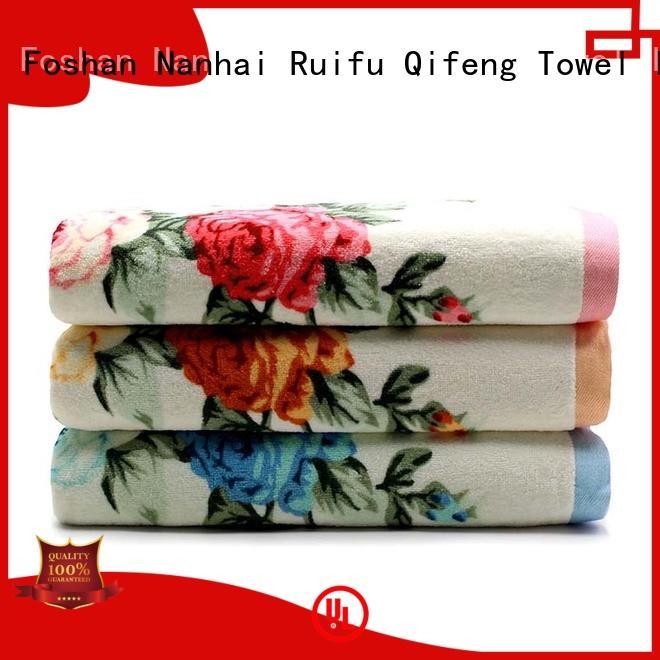 oem bathroom towel sets online for hotel Ruifu Qifeng