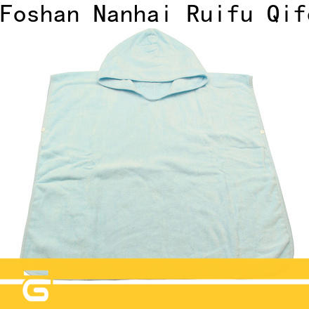 Ruifu Qifeng natural bamboo baby hooded towel promotion for kindergarden