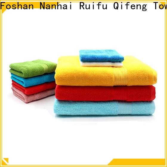 Ruifu Qifeng eco-friendly bamboo towel set online for hotel