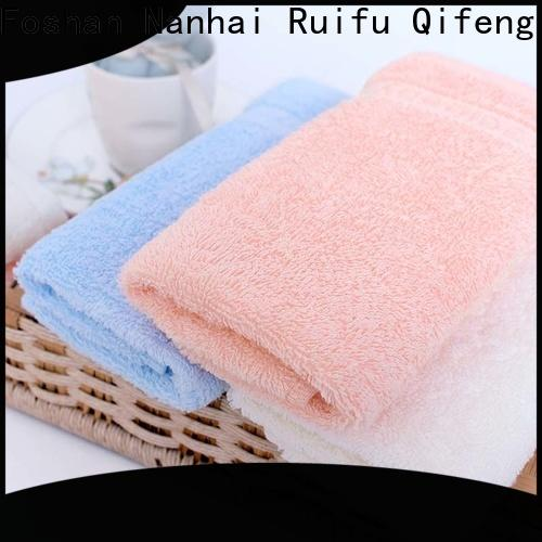 Ruifu Qifeng soft bamboo baby hooded towel manufacturer for kindergarden