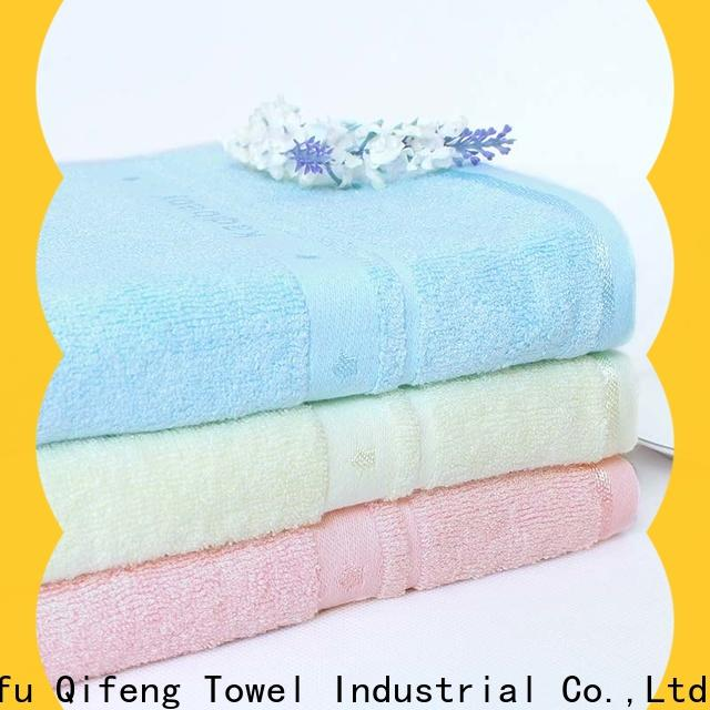 Ruifu Qifeng terry bamboo baby hooded towel online for kindergarden