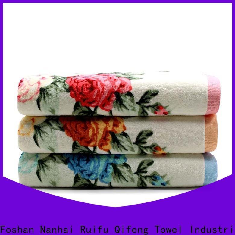 soft cotton towel set jacquard factory price for home