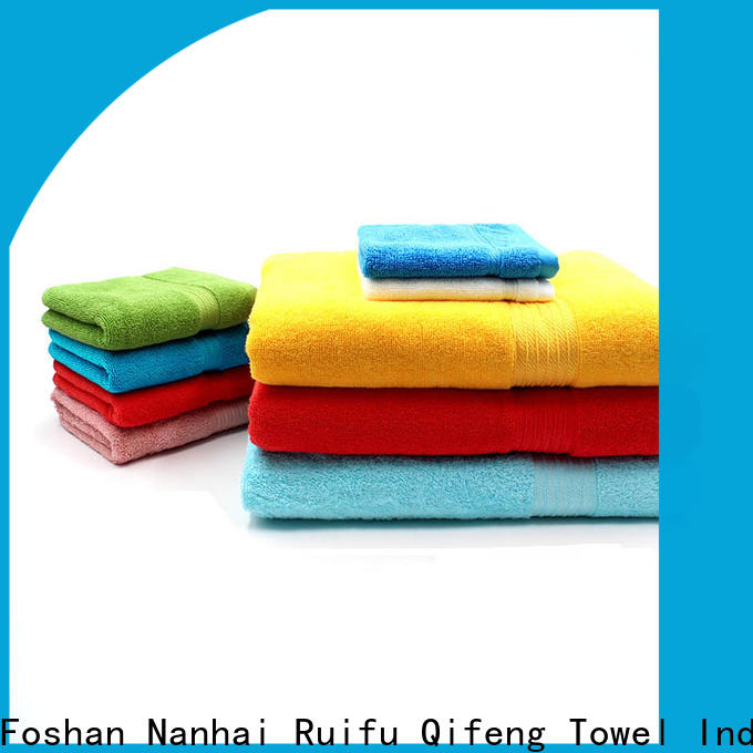 Ruifu Qifeng eco-friendly bathroom towel sets factory price for beach