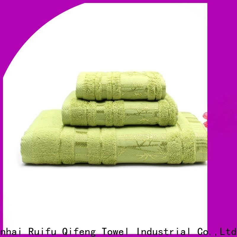 Ruifu Qifeng thick bathroom towel sets on sale for hotel