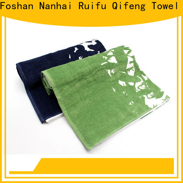 monogrammed large bath towels printing factory price for hotel