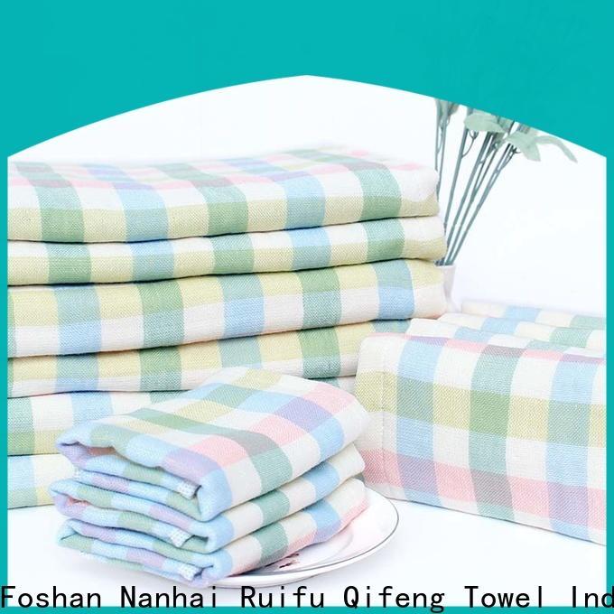 Ruifu Qifeng comfortable bamboo baby hooded towel design for hospital