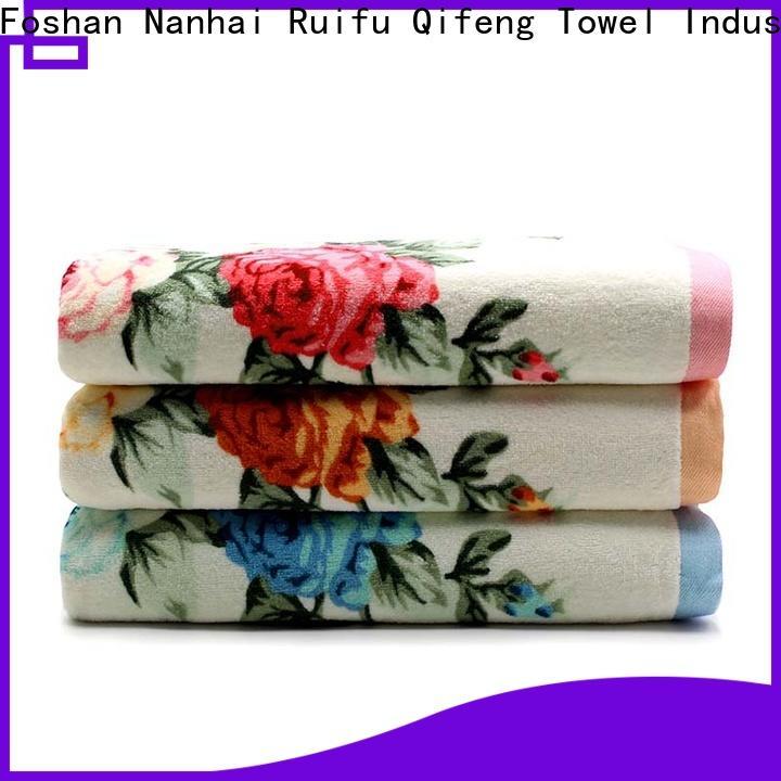 Ruifu Qifeng monogrammed customized towel set supplier for club