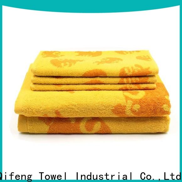 good quality bathroom towel sets thick factory price for hotel