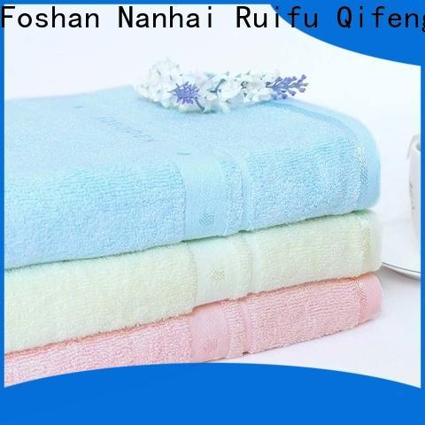 Ruifu Qifeng natural baby hooded bath towel manufacturer for kindergarden