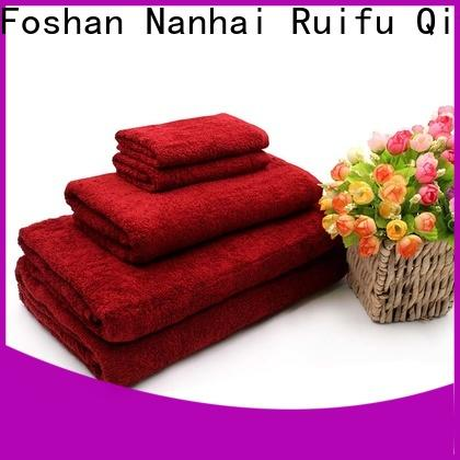 Ruifu Qifeng cotton customized towel set factory price for hotel