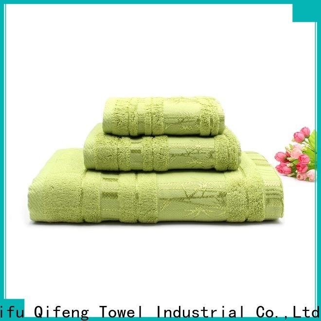 Ruifu Qifeng monogrammed bamboo towel set supplier for beach