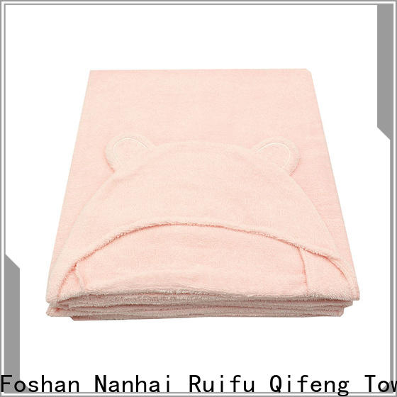 Ruifu Qifeng bath baby hooded bath towel design for home