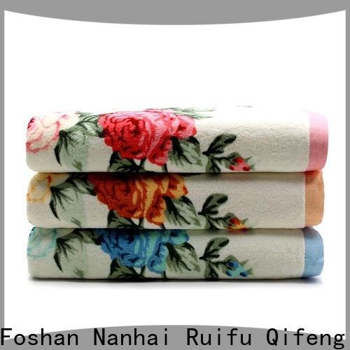 Ruifu Qifeng monogrammed customized towel set supplier for hospital