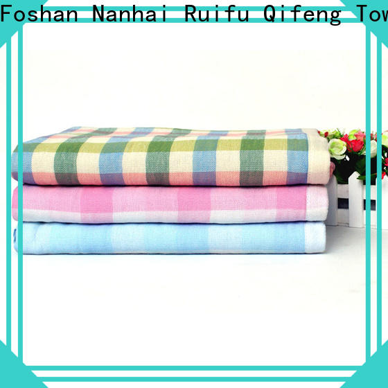 Ruifu Qifeng cotton bamboo baby towel design for hotel