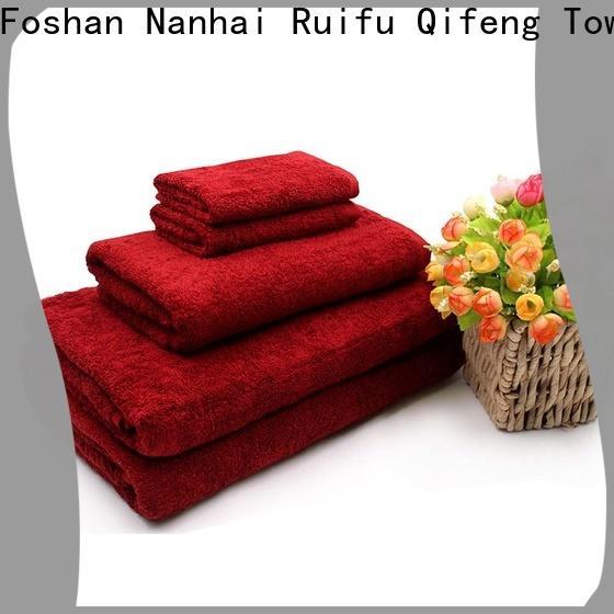 soft cotton towel set cotton on sale for club