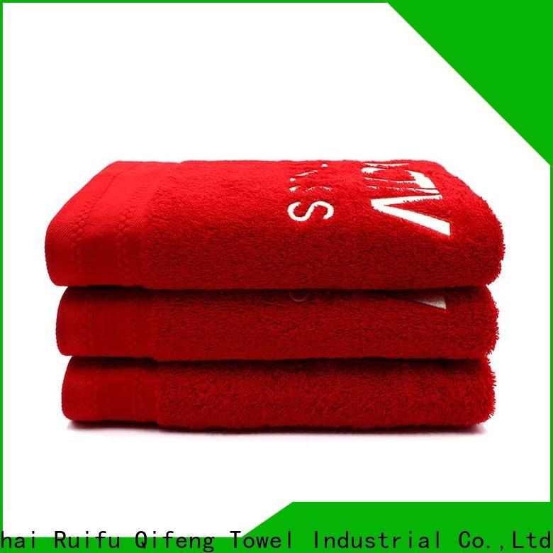 Ruifu Qifeng dobby bath sheets factory price for beach