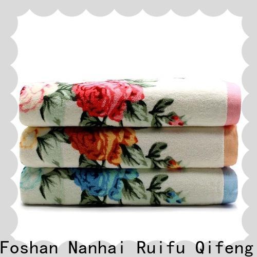 Ruifu Qifeng printed cotton towel set factory price for restaurant